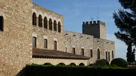 Spain-Tortosa-View-Of-Castle-Parador-With-Tower