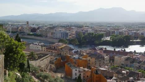 Spain-Tortosa-View-Of-City-Toward-River