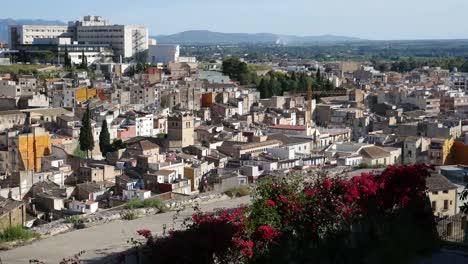 Spain-View-Of-Tortosa-City-From-Parador-Balcony