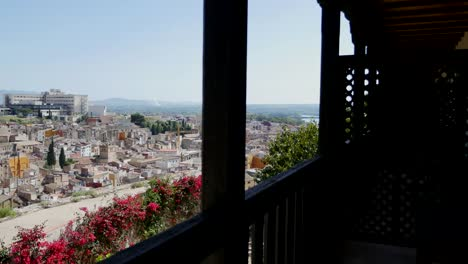 Spain-View-Of-Tortosa-From-Inside-Balcony