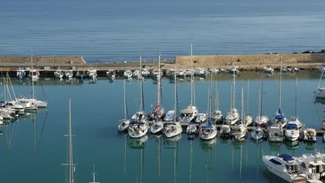 Greece-Crete-Heraklion-Boats-In-Harbor-Morning