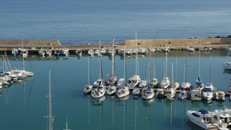 Greece-Crete-Heraklion-Boats-In-Harbor-Morning