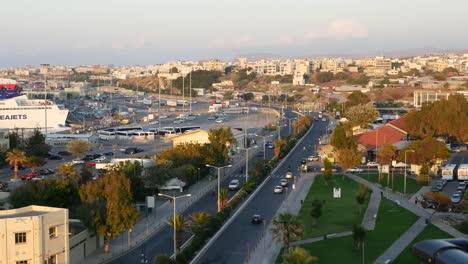 Greece-Crete-Heraklion-City-Traffic