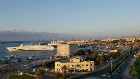 Greece-Crete-Heraklion-Harbor-With-Ferries