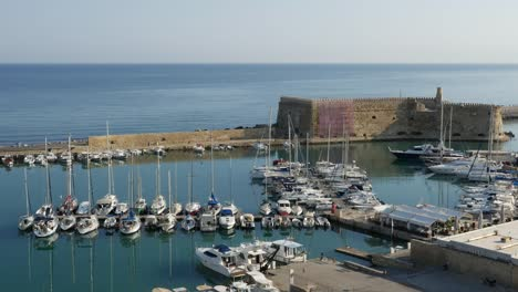 Greece-Crete-Heraklion-Harbor-With-Many-Yachts