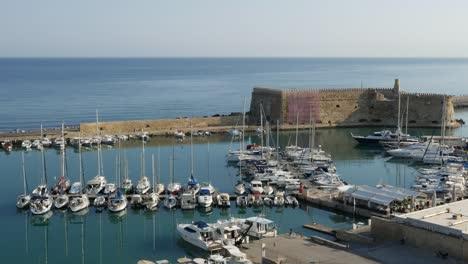 Greece-Crete-Heraklion-Harbor-With-Many-Yachts