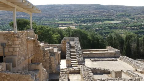 Greece-Crete-Knossos-Courtyard-And-Stairway
