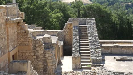 Greece-Crete-Knossos-Looking-Down-At-Staircase