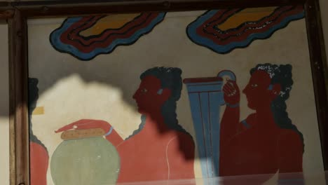 Greece-Crete-Knossos-Painting-In-Ruin
