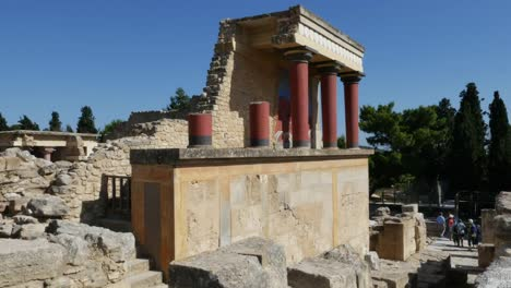 Greece-Crete-Knossos-Restored-Ruin-Section