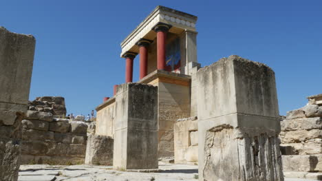 Greece-Crete-Knossos-Restored-Ruin-Side-View