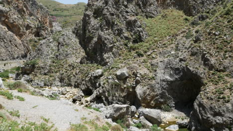 Greece-Crete-Kourtaliotiko-Gorge-Stream-Bed-And-Cave