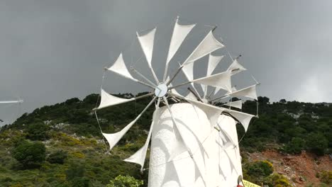 Greece-Crete-Lasithi-Plateau-Windmills-Turning