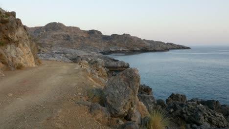 Grecia-Creta-Libia-Costa-Del-Mar-Camino-De-Tierra-Por-Mar
