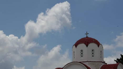 Greece-Crete-Church-Dome-With-Cloud