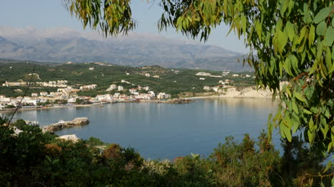Greece-Crete-Leaves-Frame-Bay-Of-Kalyvia