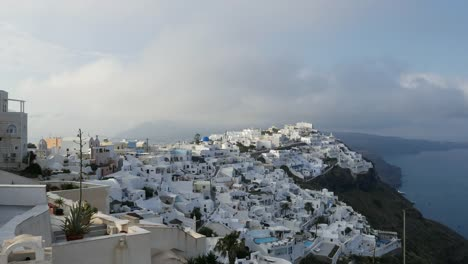 Greece-Santorini-Fira-Clouds-In-Morning