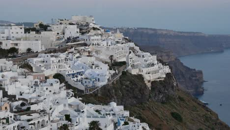 Greece-Santorini-Fira-Evening-With-People