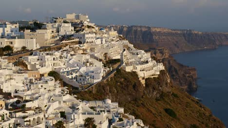 Greece-Santorini-Fira-In-Late-Afternoon-Light