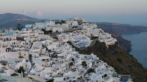 Greece-Santorini-Fira-In-Very-Late-Evening