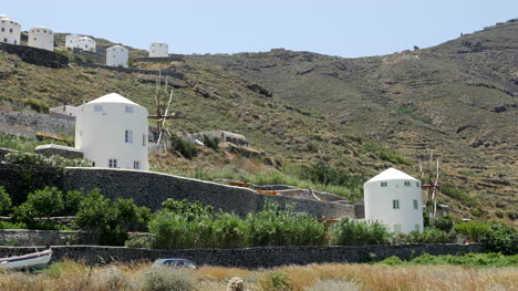 Greece-Santorini-Landscape-View-With-Windmills