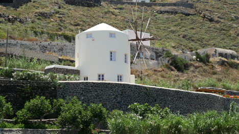 Greece-Santorini-Landscape-With-A-Windmill