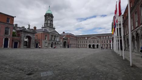 Ireland-Dublin-Castle-Parade-Ground-With-Flags