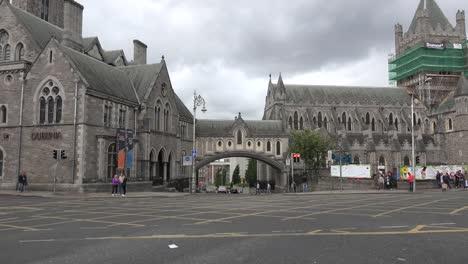 Irlanda-Dublín-Cristo-Iglesia-Catedral-Arco-Conexión-A-Dublín