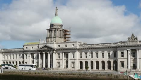 Ireland-Dublin-Customs-House-And-River-Liffey-With-Pretty-Cloud-Pan