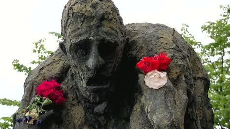 Irland-Dublin-Hungersnot-Denkmal-Statue-Des-Menschen-In-Agonie