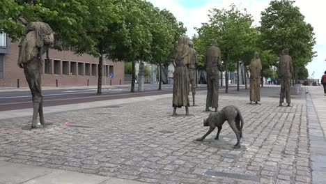Ireland-Dublin-Famine-Monument-With-Dog-Statue