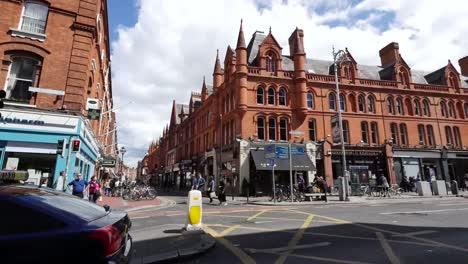 Ireland-Dublin-Traffic-And-Red-Brick-Buildings