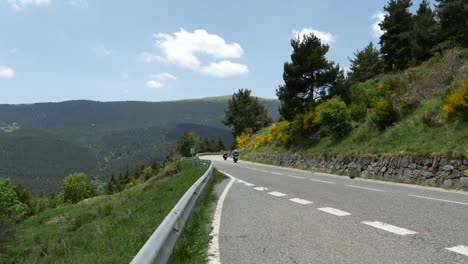 Spain-Catalan-Motorcycles-On-Mountain-Road