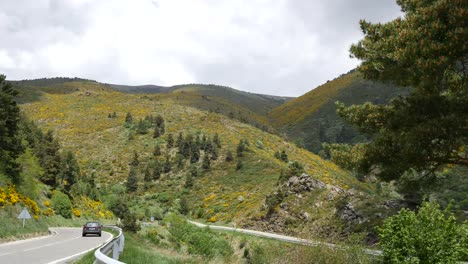 Spain-Pre-Pyrenees-Road-With-Car