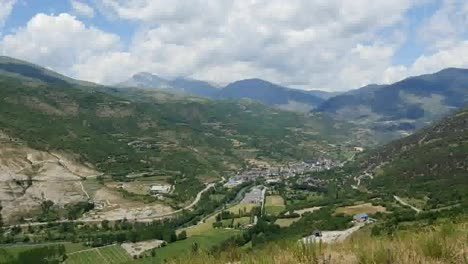 Spain-Pyrenees-Town-Of-Sort-In-A-Valley
