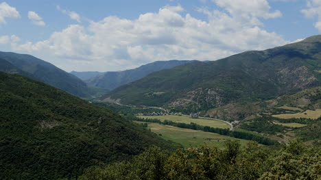 Spain-Pyrenees-Valley-And-Clouds