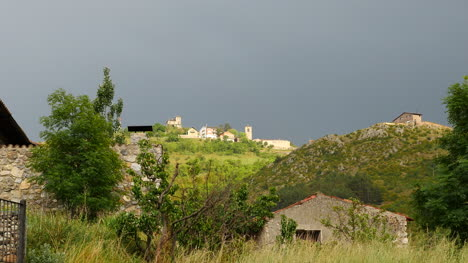 Spain-Pyrenees-Village-On-Hill-Top