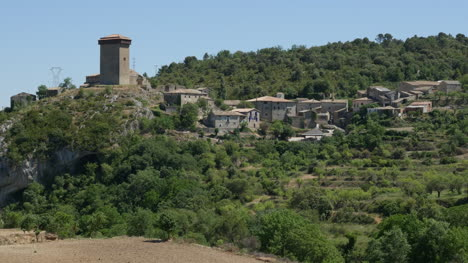 Spain-Pyrenees-Village-With-Tower