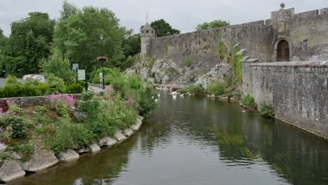 Ireland-Cahir-Castle-Wall-By-River