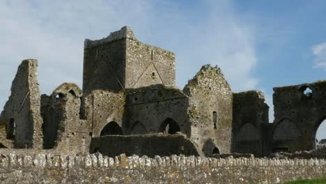 Ireland-Cashel-Hore-Abbey-View-Of-Ruins-Zoom-Out