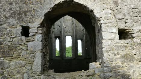 Ireland-Cashel-Hore-Abbey-Windows-Through-Church-Zoom-In