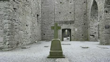 Ireland-Corcomroe-Abbey-A-Cross-Inside-