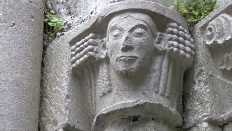 Ireland-Corcomroe-Abbey-Carved-Head-With-Long-Hair