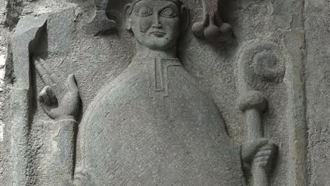 Ireland-Corcomroe-Abbey-Carving-Of-Churchman-Tilt-Up