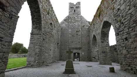 Ireland-Corcomroe-Abbey-Cross-In-Side-Aisle