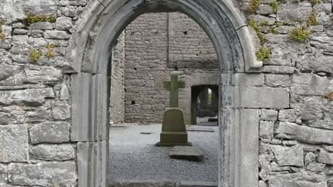 Ireland-Corcomroe-Abbey-Cross-Seen-Through-Door-Zoom-In