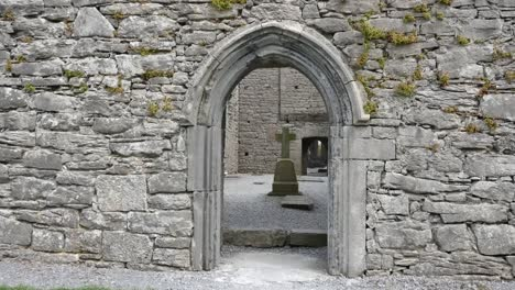 Ireland-Corcomroe-Abbey-Cross-Seen-Through-Door-