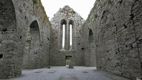 Ireland-Corcomroe-Abbey-Inside-With-Narrow-Windows-In-Side-Aisle