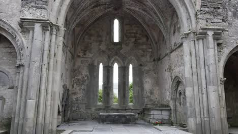 Ireland-Corcomroe-Abbey-Interior-With-Narrow-Windows