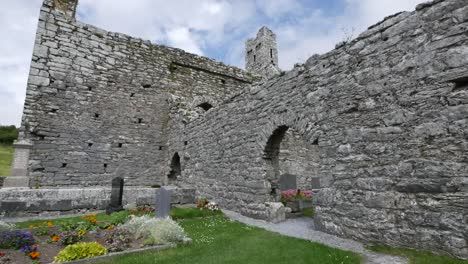 Ireland-Corcomroe-Abbey-With-Stone-Walls-